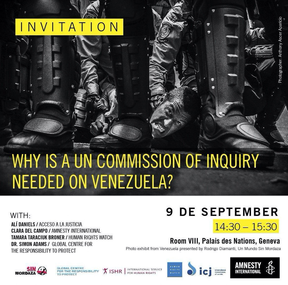 Invitation to Human Rights Council Side Event