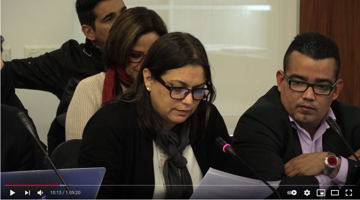 A group of Venezuelan NGOs participate in the 156th session